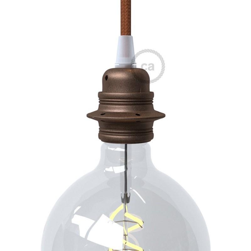 Kit Rosace /à 2 Trous cuivre avec Serre-c/âbles cylindriques en m/étal cuivre