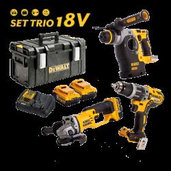 Set trio DEWALT 18V