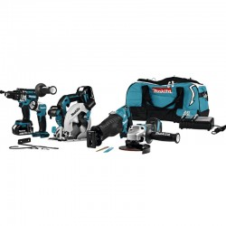 Set de 4 machines + lampe 18V DLX5034T Makita