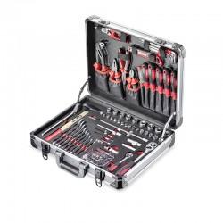 """Coffret d'outils en ALU, 1/4"""" + 1/2"""", 128-pcs Jet"""