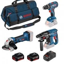 Set de 3 machines + Accus + Sac de transport Bosch