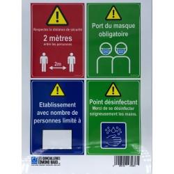 "AUTOCOLLANT A4 "" 4 CONSIGNES SECURITE DE BASE"""
