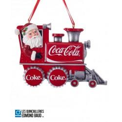Décoration de Noël - Père Noël train Coca-Cola ®