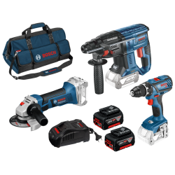 Set de 3 machines 18 V + 2 Accus Li-Ion Bosch