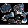 Set de 3 machines 18 V + 2 Accus Li-Ion Bosch