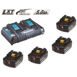 EnergyPack Li-Ion 18V chargeur double + 2 Accus 5.0 Ah Makita