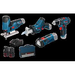 Set de 3 machines 12 V + Accus + Sac de transport Bosch
