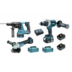 Pack 3 Machines Perceuse/Meuleuse/Perfo DLX3092TJ Makita