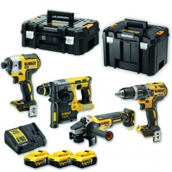 Set De 4 Machines XR 18V + 3 Accus 5.0Ah DCK422P3T DeWalt