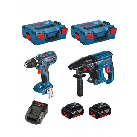Combi-Set 18V GBH 18V-21 + GSR 18V-28 + 2 GBA 4Ah + GAL + L-Boxx Bosch