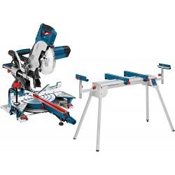 Scie À Onglets Radiale 1600W 216mm GCM 8 SJL + Table De Travail Bosch