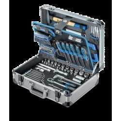 """Coffret D'outils En Alu 1/4"""", 1/2"""" 169-Pcs Asphalt"""
