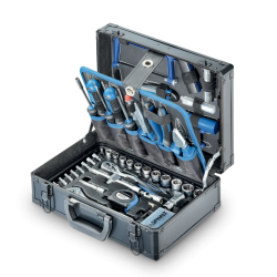 """Coffret D'outils En Alu 1/4"""", 3/8"""" 114-Pcs Asphalt"""