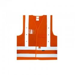 Gilet de sécurité K-SAFE Orange 14 LED
