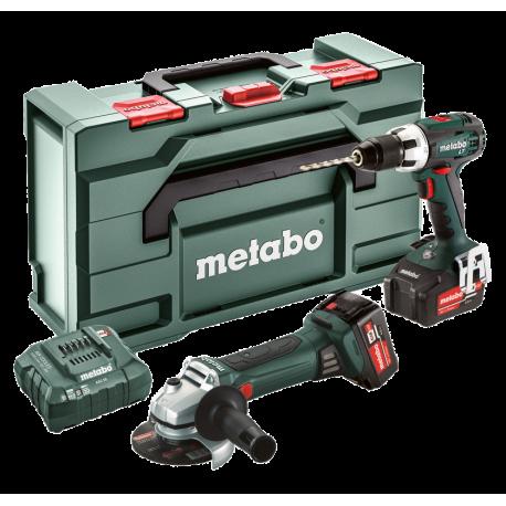 Perceuse visseuse + Meuleuse 18V Combo Set 2.4.1 Metabo