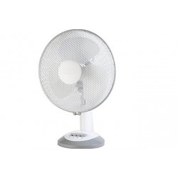 Ventilateur de table blanc oscillant   Ø30 cm